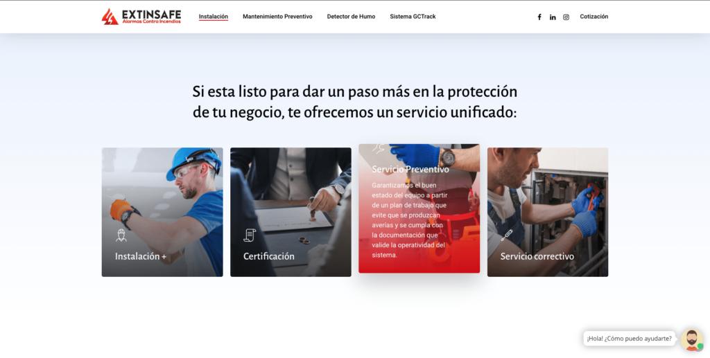 Instalación | ExtintoresHumo.com | Carlos Vera - VeraDesign