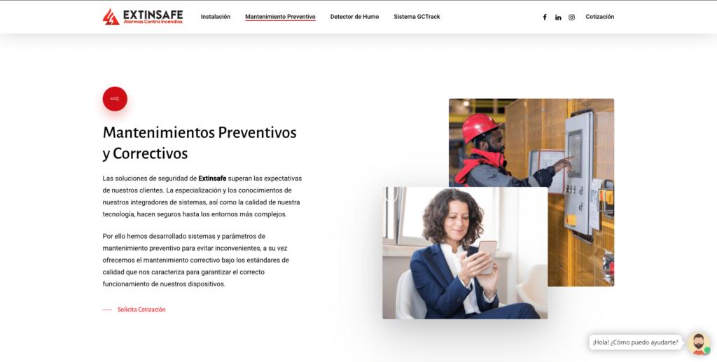 Mantenimientos | ExtintoresHumo.com | Carlos Vera - VeraDesign