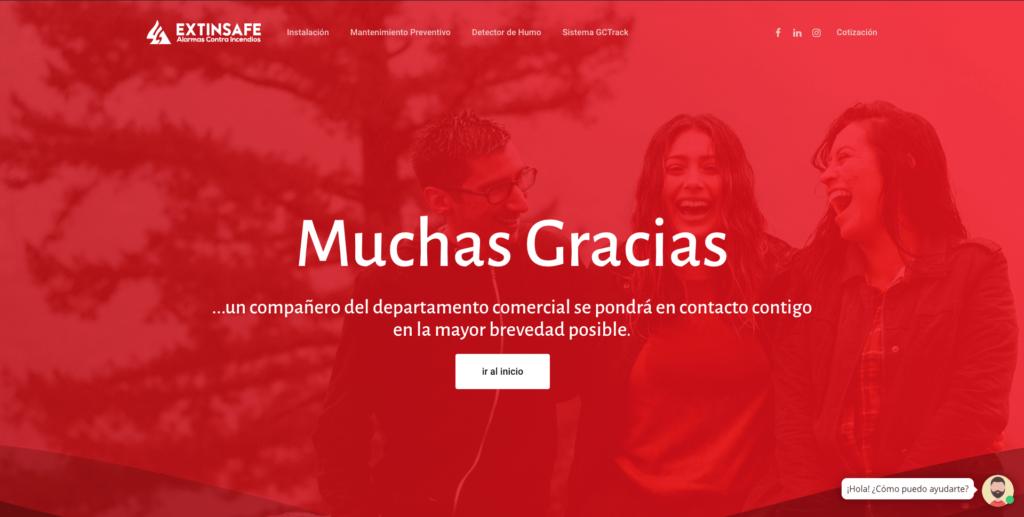 Página de Agradecimiento | ExtintoresHumo.com | Carlos Vera - VeraDesign