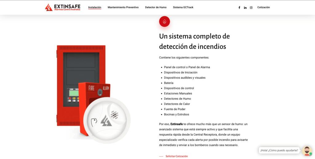 Sistema Complejo | ExtintoresHumo.com | Carlos Vera - VeraDesign