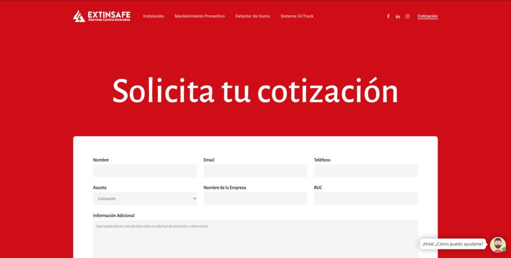 Solicitud de cotización | ExtintoresHumo.com | Carlos Vera - VeraDesign